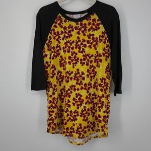 4/$25 LuLaRoe Speckle Dot Print Randy Style Shirt